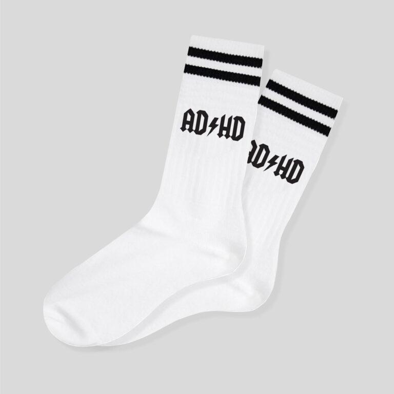 Ponožky ADHD kolekce Řekni mámě, ať ti koupí Bentley Ponožky s potiskem ADHD. Materiál: 75% bavlna, 20% polyamid, 5% elastan
