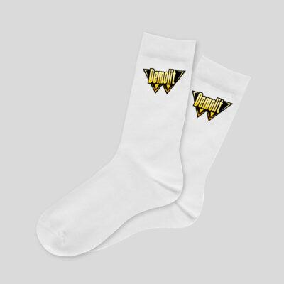 Ponožky Demolit kolekce Řekni mámě, ať ti koupí Bentley Ponožky s potiskem Demolit. Materiál: 75% bavlna, 20% polyamid, 5% elastan