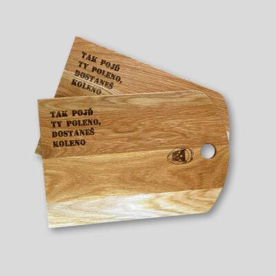 Poleno kolekce Řekni mámě, ať ti koupí Bentley Prkýnko ze 100% dubového dřeva ve spolupráci s Kulhánek Nábytek.