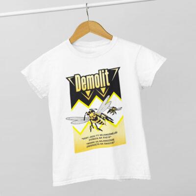 Dětské triko Demolit kolekce Řekni mámě, ať ti koupí bentley Bavlněné dětské triko s potiskem Demolit. Materiál: 100% organická a certifikovaná bavlna Druh látky: jednoduchý žerzej, příjemný na dotek