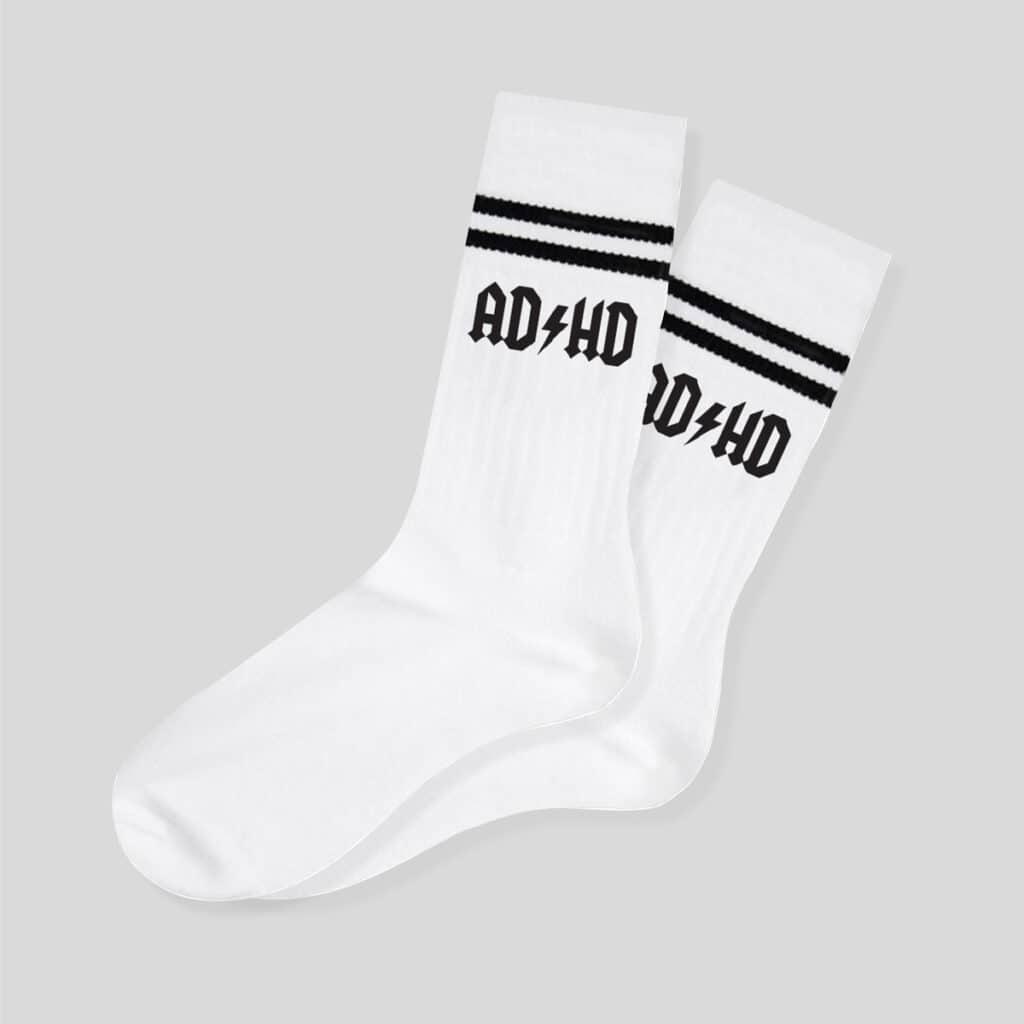 Ponožky ADHD bílé